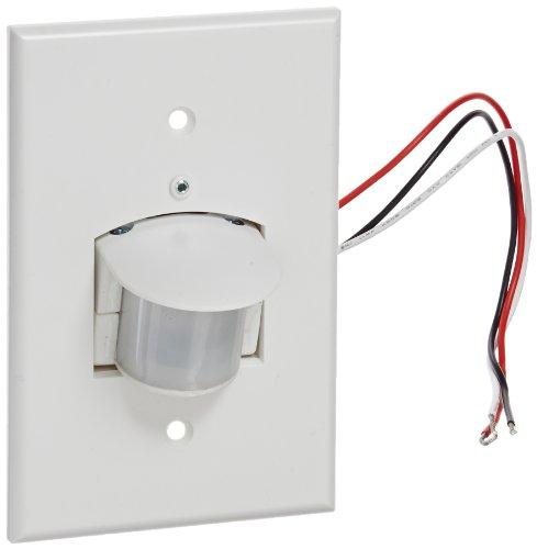 RAB Lighting SB500W Smart Box with Wall Plate, 500W Power, 120V AC, 60 Hz, 180 Degrees View, White