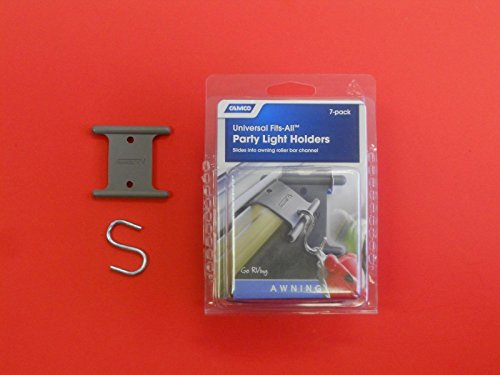 New Camco Rv Motorhome Party Light Holder Hooks RV fits all automatic roll out awning roller bar channels (Awnings Bar)