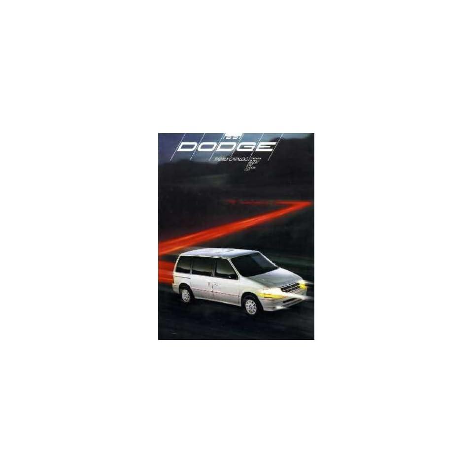 1991 Dodge Sales Brochure Literature Book Advertisement Options Specs