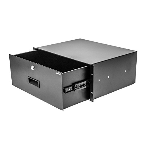 NavePoint Server Cabinet Case 19 Inch Rack Mount DJ Locking Lockable Deep Drawer with Key 4U ()