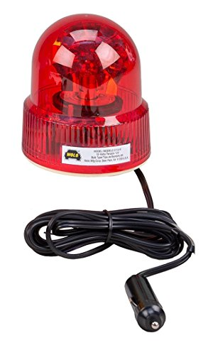 Wolo (3110-R) Beacon Light Rotating Emergency Warning Light - 12 Volt, Red (Rotating Police Beacon)