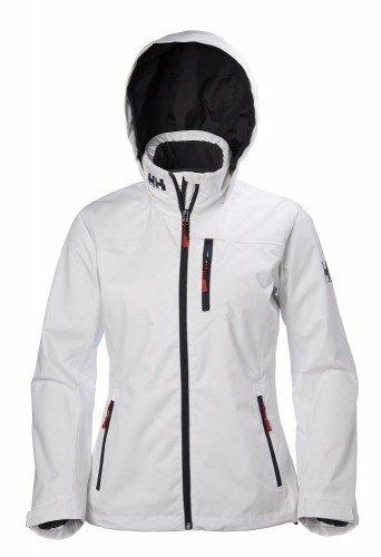 Helly Hansen Women's Crew Hooded Midlayer Jacket, White, X-Large