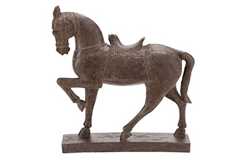 Deco 79 Polystone Horse Decor, 15 by 14-Inch - Home Deco Decor
