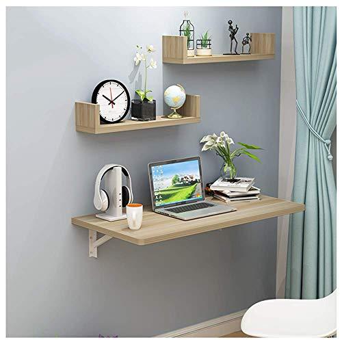 Giow Study Wall Table Folding, Mesa de Cocina de Madera para Montaje en Pared, Mesa Plegable Colgante 120X50cm, Ahorro de Espacio, Multifuncion, para Escritorio de Oficina (Ne