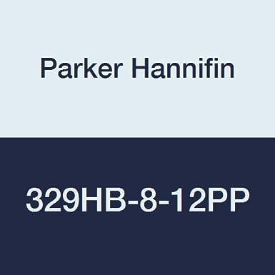 Polypropylene Parker Hannifin 329HB-8-12PP-pk5 Par-Barb Male Elbow Fitting 1//2 Hose Barb x 3//4 Male NPT Parker Hannifin Corporation 1//2 Hose Barb x 3//4 Male NPT 90 Degree Angle Pack of 5 Black