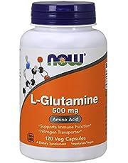 NOW Supplements, L-Glutamine 500 mg, Nitrogen Transporter*, Amino Acid, 120 Veg Capsules