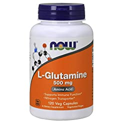 NOW Supplements, L-Glutamine 500 mg, Nit...