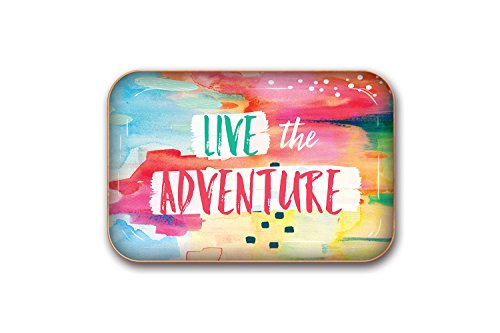 Studio Oh! Medium Metal Catchall Tray, Live The Adventure