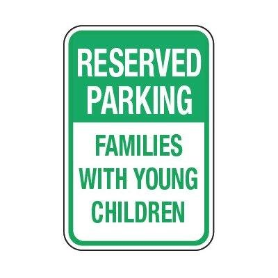 Family Reserved Parking Sign (Reserved Families With Children)