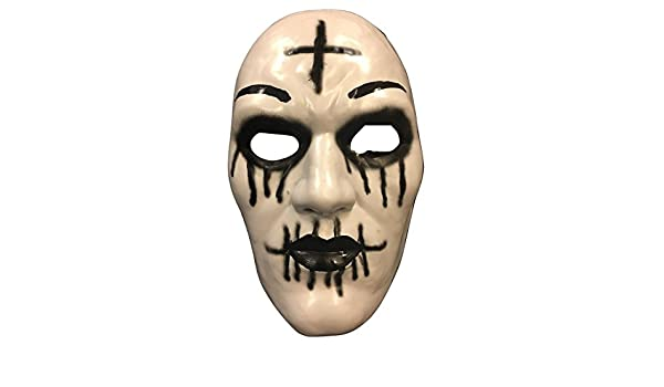 Amazon.com: The Purge Cross Mask From Purge Anarchy 2 Halloween Movie - Hard Plastic - Universal Size: Clothing
