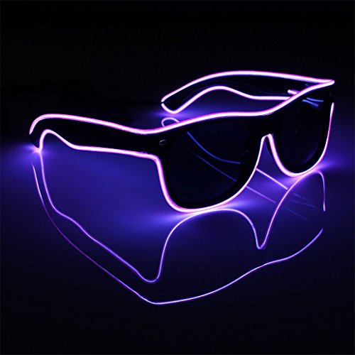 yinpinxinmao Glow glasses LED Glasses EL Wire Light-Up Frame for Night Party size One size (Bulk El Wire)