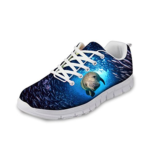 Knuffels Idee Cool 3d Dieren Mens Fashion Blue Sneakers Zeeleeuw