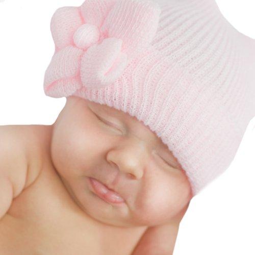 3d9c2842fc3 Melondipity Girls Catherine Newborn Soft Pink Flower Hospital Beanie Baby  Hat - Buy Online in Oman.