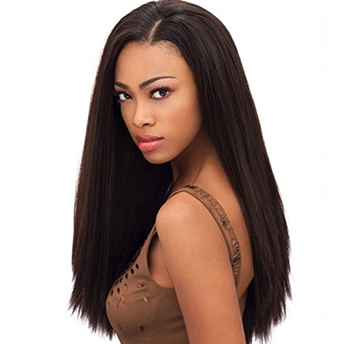 Virgin Brazilian Hair Weave - Unprocessed – Dyeable and Bleachable - Natural Color - 3 Bundles - Grade 8A - 100% Human Hair Extensions - Remy Hair -straight Wave (20 22 24) (Maxine On Halloween)