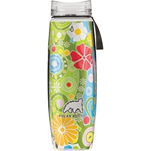 Polar Ergo Insulated Water Bottle 22oz Flower Candy