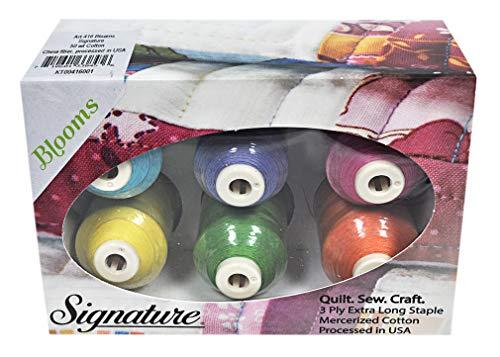 Cotton Mini King Spools - Signature 50 Cotton Mini King 6 Spool Gift Pack - Blooms