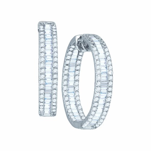 3 1/2 Total Carat Weight DIAMOND FASHION HOOPS by Jawa Fashion