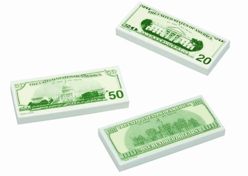 100 Dollar Bill Eraser, 72 count by J. Rousek (Image #1)