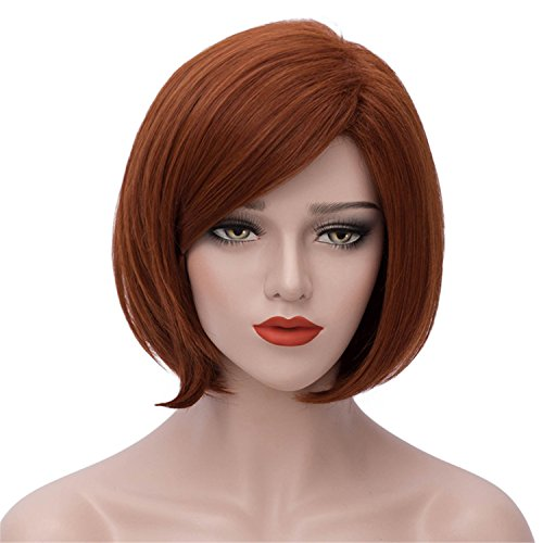 Short Brown Wigs for Women Synthetic Hair Wig Heat Resistant Natural Looking Full Wigs BU132
