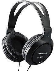 Panasonic Full-Size Over-Ear Wired Long-Cord Headphones - 4.1x 7.2X 7.6, Black (RP-HT161-K)