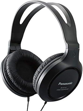 Panasonic Full-Sized, Lightweight Long-Cord Headphones – RP-HT161-K (Black)