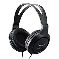 The lightweight, classic styling of the Panasonic Headphones RP-HT161-K Full-Sized Over-the-Ear Lightweight Long-Corded rival higher-priced headphones with their clear, high-quality sound and long-lasting comfort. Featuring dual 30mm neodymiu...