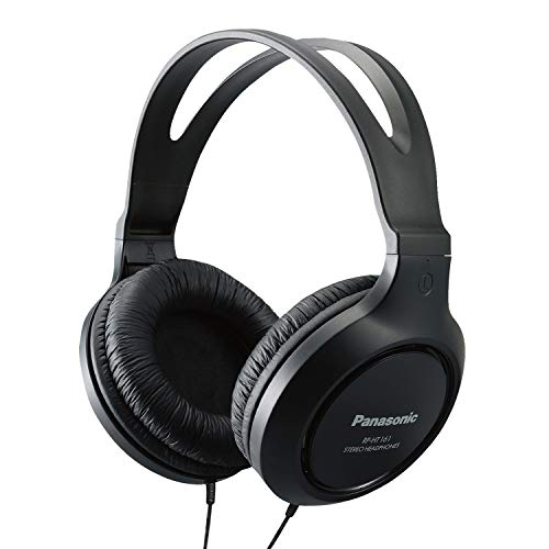 Panasonic Headphones RP-HT161-K Full-Sized Over-the-Ear Lightweight Long-Corded (Black) (Best Mid Priced Gaming Laptop)