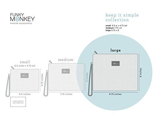 Keep Funky à Pochettes avec Accessoires Simple Monkey dragonne main Fashion Sac It pw8FTn6qp