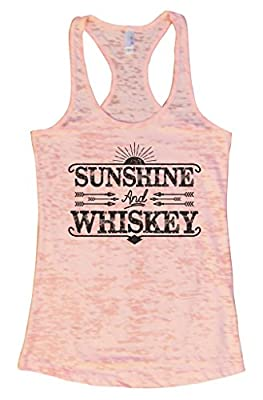 Sunshine and Whiskey II Womens Burnout Tank Top - Drinking Party Shirt Funny Threadz