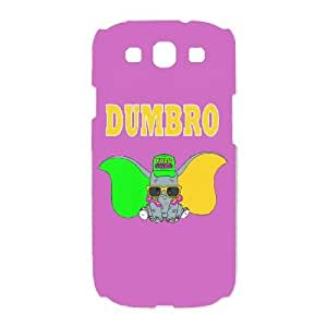 Special Design Case Samsung Galaxy S3 I9300 White Cell Phone Case Kmjnx Dumbo Durable Rubber Cover