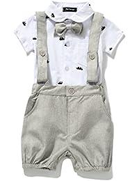enterizo de caballero, con moño, para bebés varones, enteritos, conjuntos, Estados Unidos.