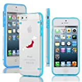 Apple iPhone 4 4s Ultra Thin Transparent Clear Hard TPU Case Cover Japan Japanese Flag (Light Blue)