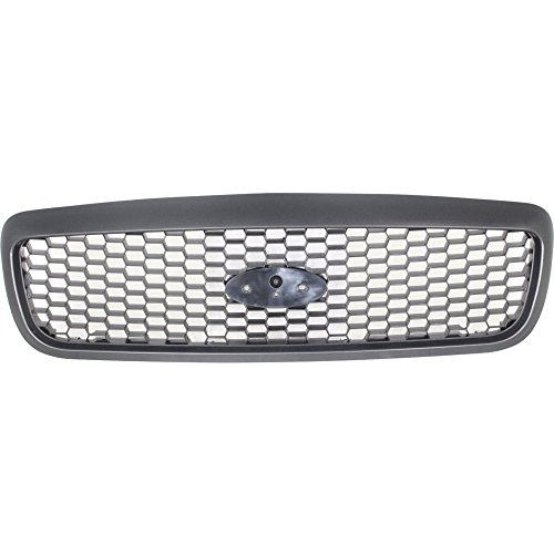 Ford Crown Victoria Base Model - Evan-Fischer EVA17772022947 Grille for Ford Crown Victoria 01-11 Plastic Textured Dark Gray Base/LX/Police Models CAPA Certified