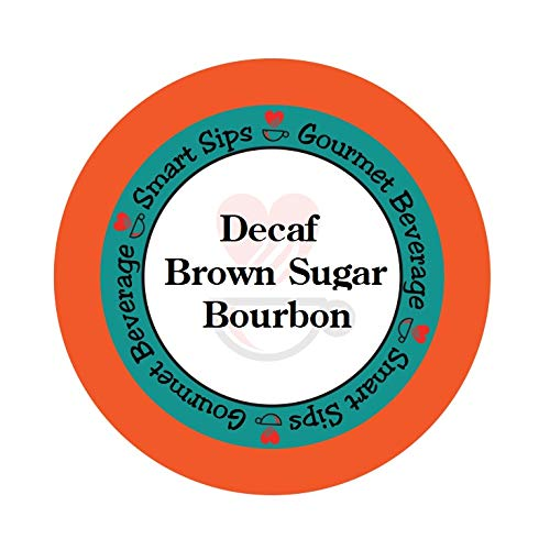 Smart Sips, Decaf Brown Sugar Bourbon Flavored Coffee, 24 Count, Compatible With All Keurig K-cup Machines