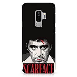Loud Universe Tony Montana Face Samsung S9 Plus Case Scarface Movie Art Samsung S9 Plus Cover with 3d Wrap around Edges