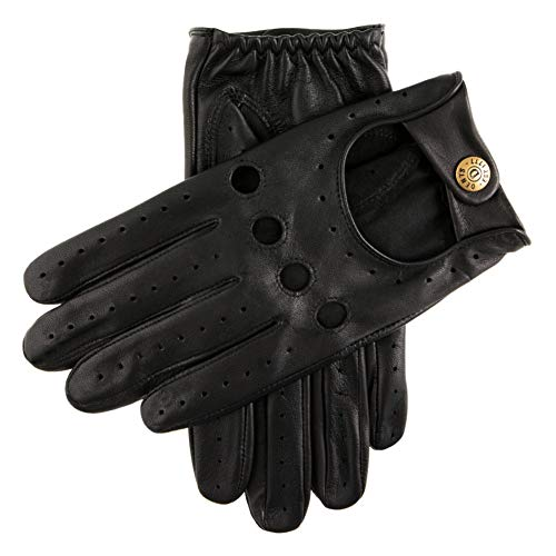 Dents Mens Silverstone Leather Touchscreen Driving Gloves Black S