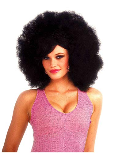 Forum Novelties Women's Funky Pop Afro Costume Wig, Black, One Size ()