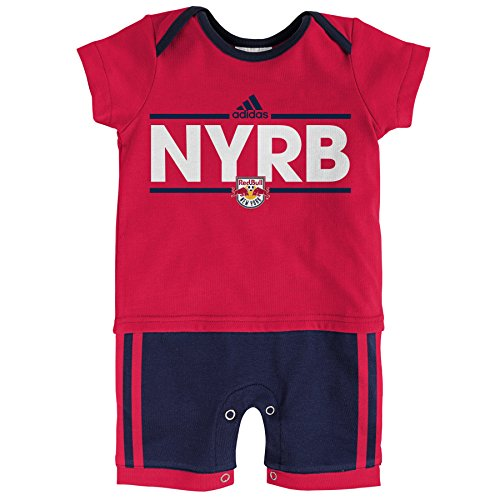 fan products of MLS New York Red Bulls Boys Little Trainer Short sleeve Romper, Toro Red, 18 Months