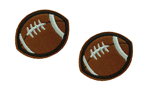 2 pieces AMERICAN FOOTBALL Iron On Patch Applique Motif Fabric Children Sports Decal 2 x 1.6 inches (5 x 4 cm)
