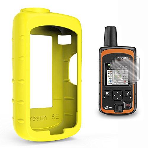 TUSITA Case for Delorme inReach SE/Explorer - Silicone Protective Cover - Satellite Tracker GPS Accessories (Yellow)