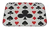 Gear New Poker Pattern Bath Rug Mat No Slip Microfiber Memory Foam