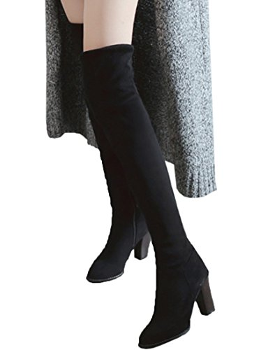 Vitalo Womens Over The Knee High Thigh Block Heel Stretch Thigh High High Boots B07FYJPRGS Shoes b779fb