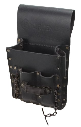 Greenlee 0258-13 Leather Pouch, 5 Pocket, Heavy Duty (Greenlee Tool Pouch)