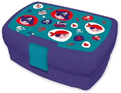 Multicolor Multicolor /única Desconocido Kids Sandwichera de Colecci/ón Pirata Fiambreras bento-Porta Alimentos Art/ículos para el hogar Unisex Adulto