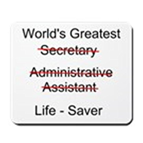 CafePress - World's Greatest Secretary - Non-slip Rubber Mousepad, Gaming Mouse Pad