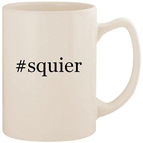 #squier - White Hashtag 14oz Ceramic Statesman Coffee Mug Cup