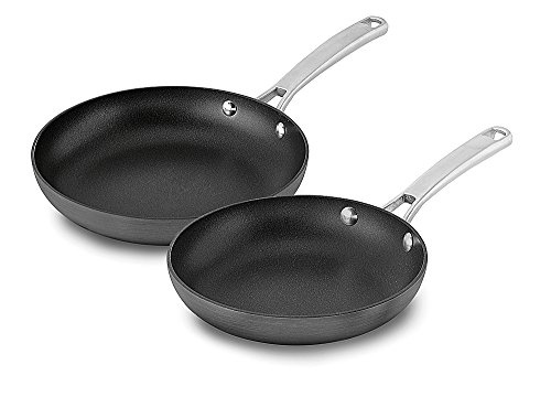 Calphalon 2 Piece Classic Nonstick Fry Pan Set, Grey ()