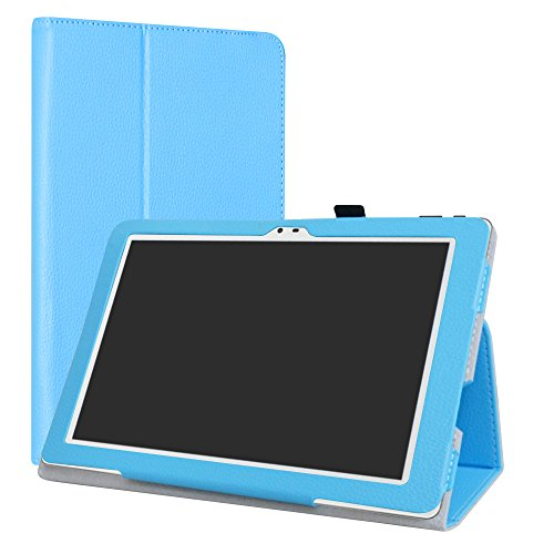 AT&T Primetime Bluetooth Keyboard Case,LiuShan Detachable Wireless Bluetooth Keyboard Standing PU Leather Cover for 10.0'' ATT Primetime/ZTE K92 Primetime 4G LTE Android Tablet,Blue by LiuShan (Image #1)