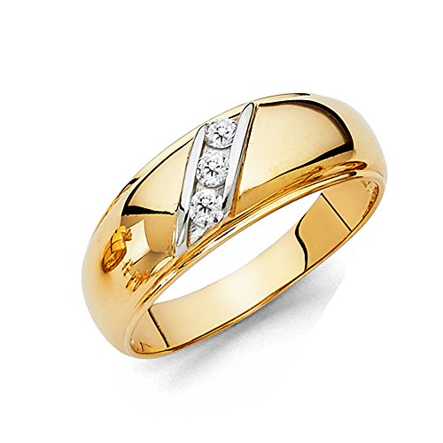Mens 14k REAL Yellow Gold Wedding Band - Size 10.5