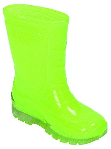 Wetterboots Gummistiefel Regenstiefel Neongelb